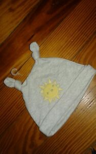 NWT Gymboree Infant Boys Girls Beanie Hat Weather Sunshine Size 0-3 Months Gray