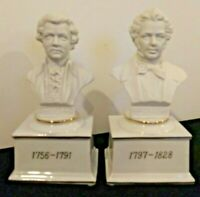 2 Musical Composer Bust Music Boxes by The San Francisco Music Box Co.  WORKING
