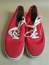 Kids Red Vans Sneakers US Size 3
