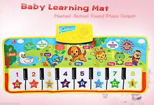Baby Musical Cartoon Animal Piano Play Mat Language Learning Toy Kids Xmas Gift