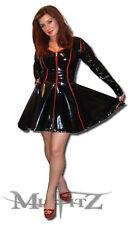 Misfitz Noir/Rouge pvc Sweetheart Skater robe Swing Taille 18 Goth