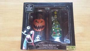 Disney The Nightmare Before Christmas Holiday Doors Trinket Jar Set