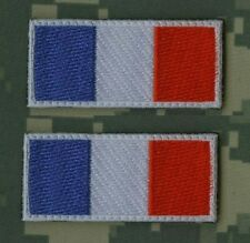 NATO ISAF JSOC FRENCH SP OPS PARATROOPER AFGHANISTAN SSI: 2 X Flag Tab (2008)