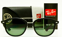 RAY-BAN POLARIZED SUNGLASSES RB2183 901/9A Polished Black Classic Green 53mm NEW