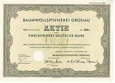 Baumwollspinnerei Gronau 200DM  1953      Kirchspiel Epe