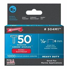 Arrow 504M1 1/4in. T50 Monel Rust Proof Staples 1000/Box