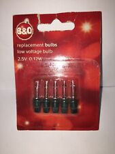 Vintage Christmas Lights B&Q Replacement 2.5v  Bulbs 05019526 Battery Lights