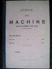 Journal de la machine navire hélice Technique mécanique marine Bateau 1930 RARE