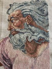 """Michelangelo Finished Cross Stitch 10""""x14"""" Ready For Framing"""