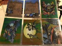 BATMAN & ROBIN 1995 SKYBOX BASE CARD SET, 11/12 POP-UPS, 2  Foil