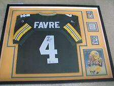 Brett Favre Autographed & Framed Jersey  Mounted Memories