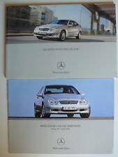 Prospekt Mercedes C-Klasse Sportcoupe CL 203, 8.2003, 56 S. + Preisheft 4.2003
