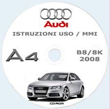 AUDI A4 Berlina (B8/8K) 2008,istruzioni uso manutenzione  + MMI (ITA)