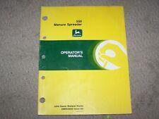 John Deere Used 550 Manure Spreader Operators Manual B18