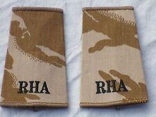 Distintivo di grado: Privato,RHA,Royal Cavallo Artiglieria,Desert,Coppia,scuro