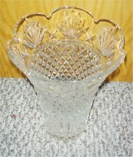 Waterford Crystal Sierra Large Centerpiece Collectors Crystal Vase (BRAND NEW)