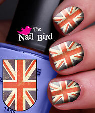 Nail Decals Nail Transfers Nail Wraps Nail Art 20 Vintage Union Jack