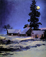 Maxfield Parrish Moonlight Night 22x30 Hand Numbered Ltd. Edition Art Deco Print