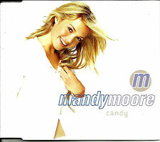MANDY MOORE Candy w/ 2 RARE MIXES & POSTER UK CD single SEALED Usa Seller