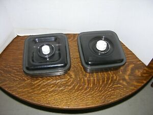 2 FoodSaver Vacuum Seal Container 2.25 Quarts Square Smoked with Lid