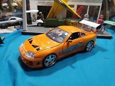 🔥JADA 1:18 Fast and the Furious Brians Orange Toyota Supra🔥 BEAUTIFUL NICE CAR