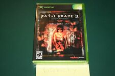 Fatal Frame II: Crimson Butterfly Director's Cut (Xbox) NEW SEALED Y-FOLD MINT