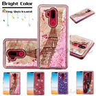 For LG G7 ThinQ G710 Hybrid Liquid Glitter Bling Rubber Protective Case Cover