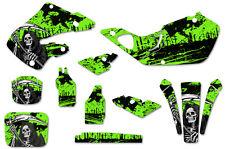 Honda CR125 98-99 CR250 97-99 Dirt Bike Graphic Kit Decal Sticker Wrap REAP GRN