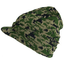 0666b4be0fed9 Plain Beanie Cap Knit Visor Tactical Hunting Military Army Winter Ski Camo  Hat
