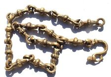 ANTIQUE Vtg 1800s Heavy Handmade Swag (Oil) Lamp / Light Bronze Link Chain