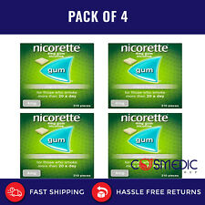 4x Nicorette Original Flavour Gum 4mg  (210 Pieces)