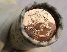 Finlandia Nuovo di zecca ROLL - 2 Euro cent 2000 - 50 monete tutte le monete BU ad eccezione di fine