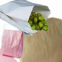 """Brown White Kraft Paper Bags & Pink/White Blue/White Candy Sweet Bags 5x7"""" 7x9"""""""