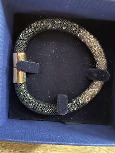 Genuine Swarovski Stardust Bracelet. Rose Gold, 2tone Black, Light Pink Crystals