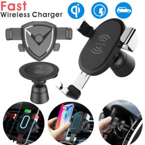 Wireless Car Charger Air Vent Phone Holder Mount Charge For iPhone 8/X Samsung