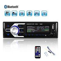 Car Stereo Audio Radio Bluetooth MP3 Player 1 Din FM Slot 12V TF USB AUX Input
