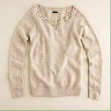 J. CREW Women's XS Lambs Wool Sequined Boyfriend Sweater $69.50