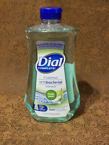 NEW Dial Complete Foaming Antibac Hand Wash Refill Fresh Pear 32oz Refill Bottle