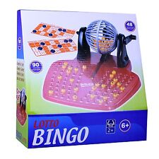 BINGO Spiel-Set mit Bingomühle Trommel Ablage und Zubehör Lotto Bingotrommel
