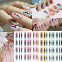 3D Nail Stickers Gradient Stripe Shape Adhesive Transfer Decals Nail Art Design