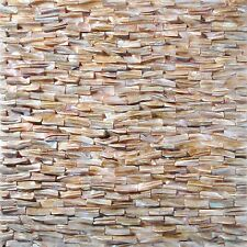 Mother Of Pearl Tile Brown Iridescent Backsplash Wall 3D Subway Solid Side Edge