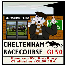 FUN HORSE RACING ROAD SIGNS (CHELTENHAM) SOUVENIR NOVELTY COASTERS - GIFTS