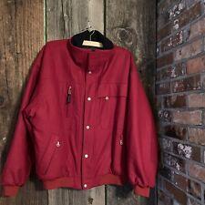 BOGNER MEN'S WINTER SKI SNOWBOARD JACKET SZ 40 Red Very Warm Wool Quilted Lining