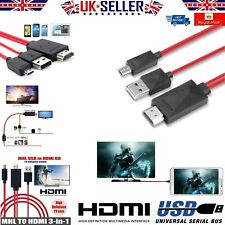 MHL Micro USB To HDMI Cable 1080P HD TV Adapter For Samsung Android Phones HTC