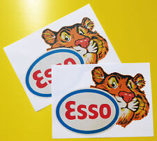 ESSO TIGER Classic Car 'WORN RETRO EFFECT' stickers decals Mini cooper