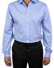 6145c350c9bbbf Tommy Hilfiger 100 Cotton Easy Care Slim Fit Men s Dress Shirt 24n0314 Blue  32 33