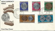 1975 FDC New Currency  set 5 FDI Port Moresby 21.4.75 Unaddressed Cover