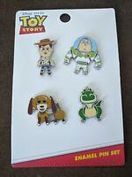Toy Story Woody Buzz Rex Slinky Dog Loungefly Disney Pixar Enamel Pin Set
