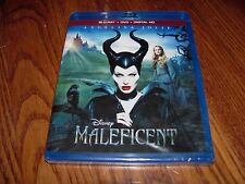 Maleficent: Angelina Jolie(2-Disc Blu-ray + DVD + Digital HD NEW) I Ship Faster