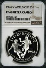 1994-S WORLD CUP SILVER PROOF S$1 NGC PF69 ULTRA CAMEO